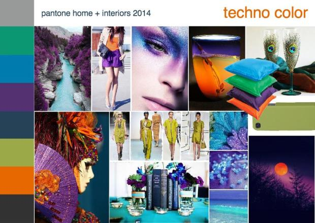 pantone techno interior design mood board 1