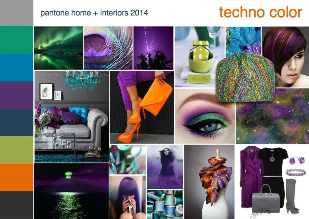 pantone techno interior design mood board