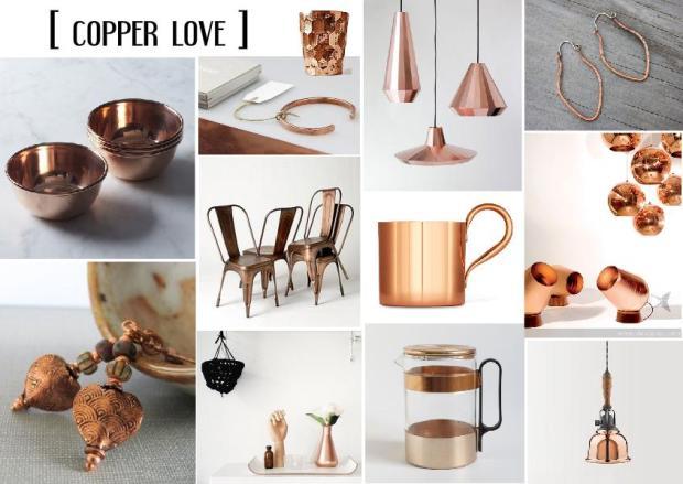fall 2013 design trend copper interior design mood board