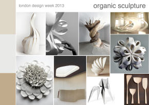 London design week 2013 organic scultpure mood board