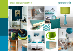 London design week 2013 peacock mood board