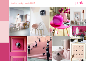 London design week 2013 pink mood board