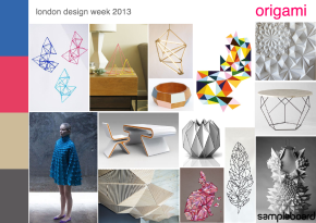 London design week 2013 origami mood board