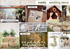 Rustic Wedding Decor Mood Board